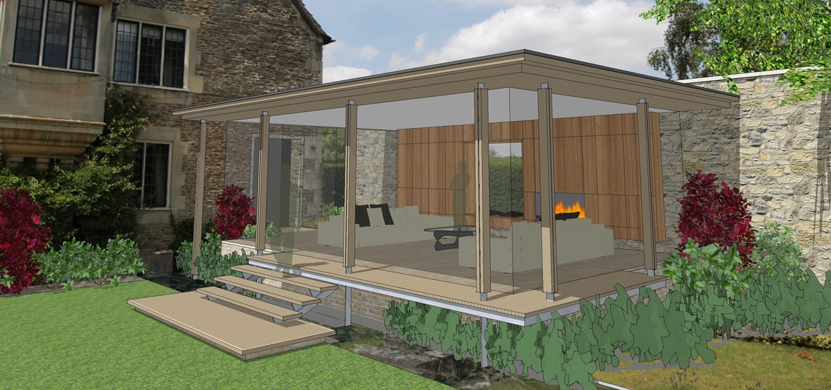 LM garden room feature