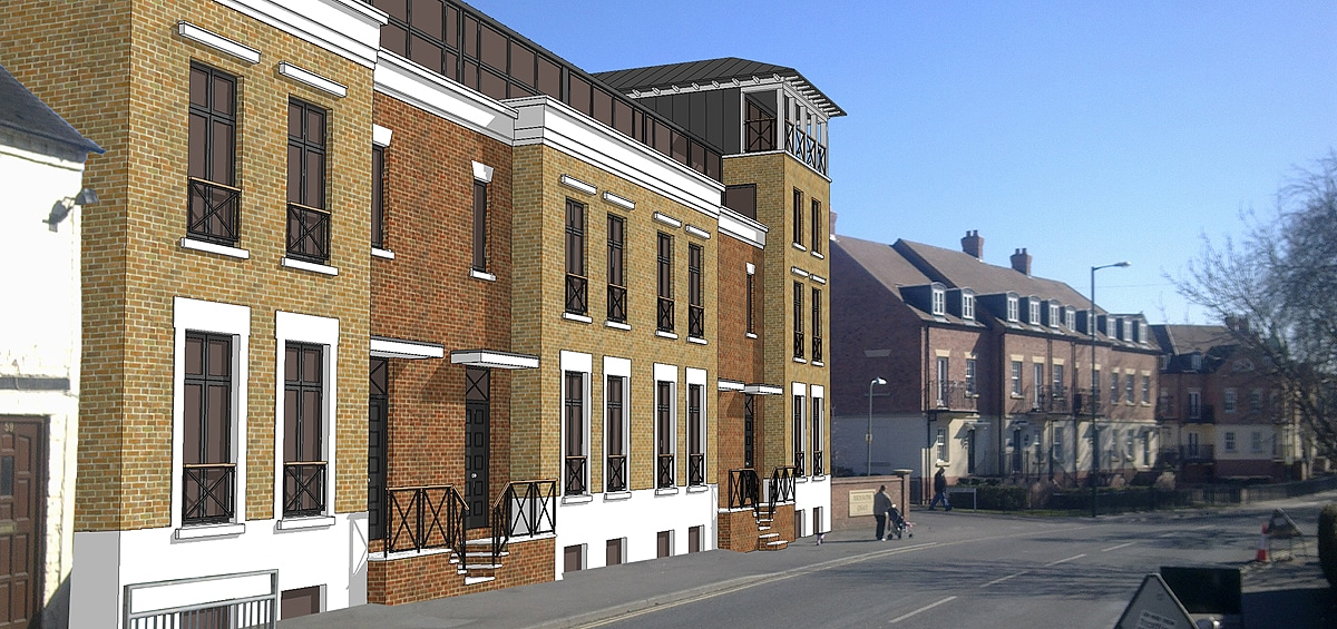Coton Hill residential development feature