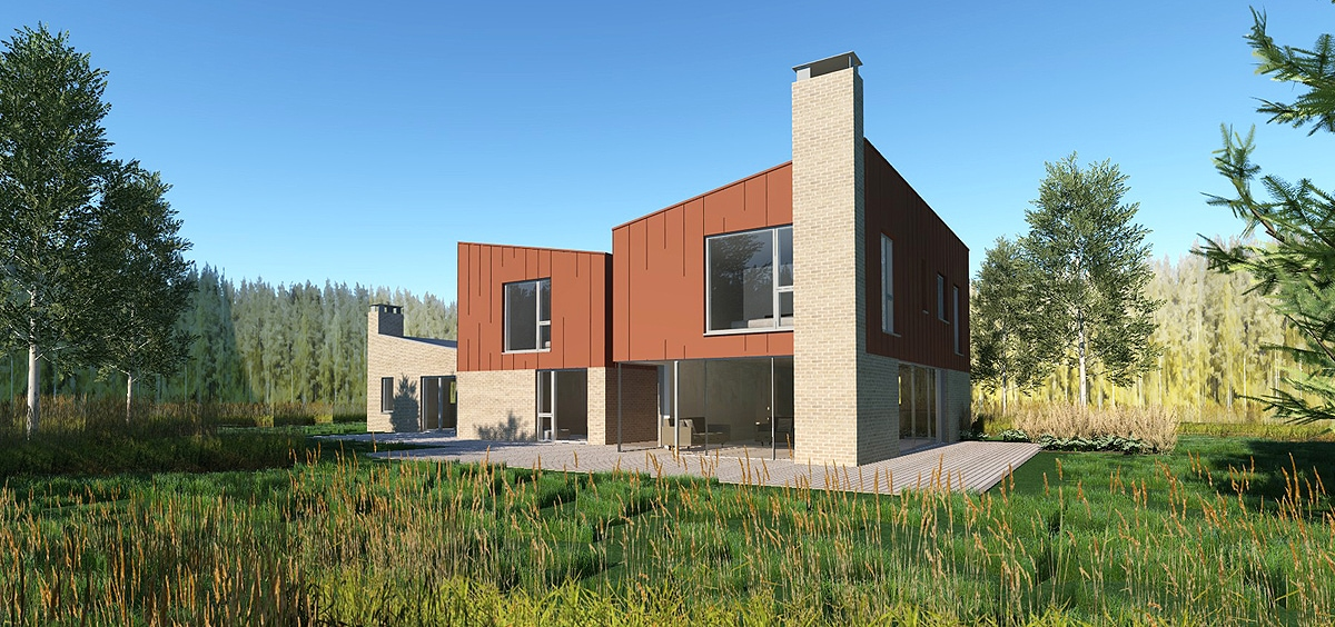 CGI visualisation of replacement dwelling in Oxford's Greenbelt